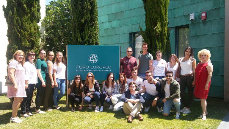 Estudiantes Karlsruhe y de Foro Europeo
